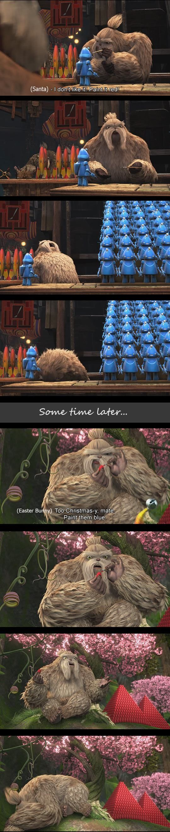 Rise of the Guardians funny meme | I loved these two scenes from the movie! gotta feel for the yeti