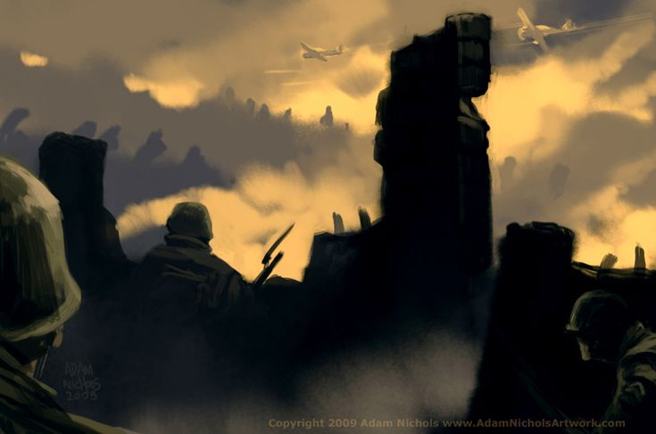 a quick 30 min speed paint while at Marama, the Wellington Massive Black/conceptart.org workshop. A tribute to all those lost in battle. May you Rest in Peace.