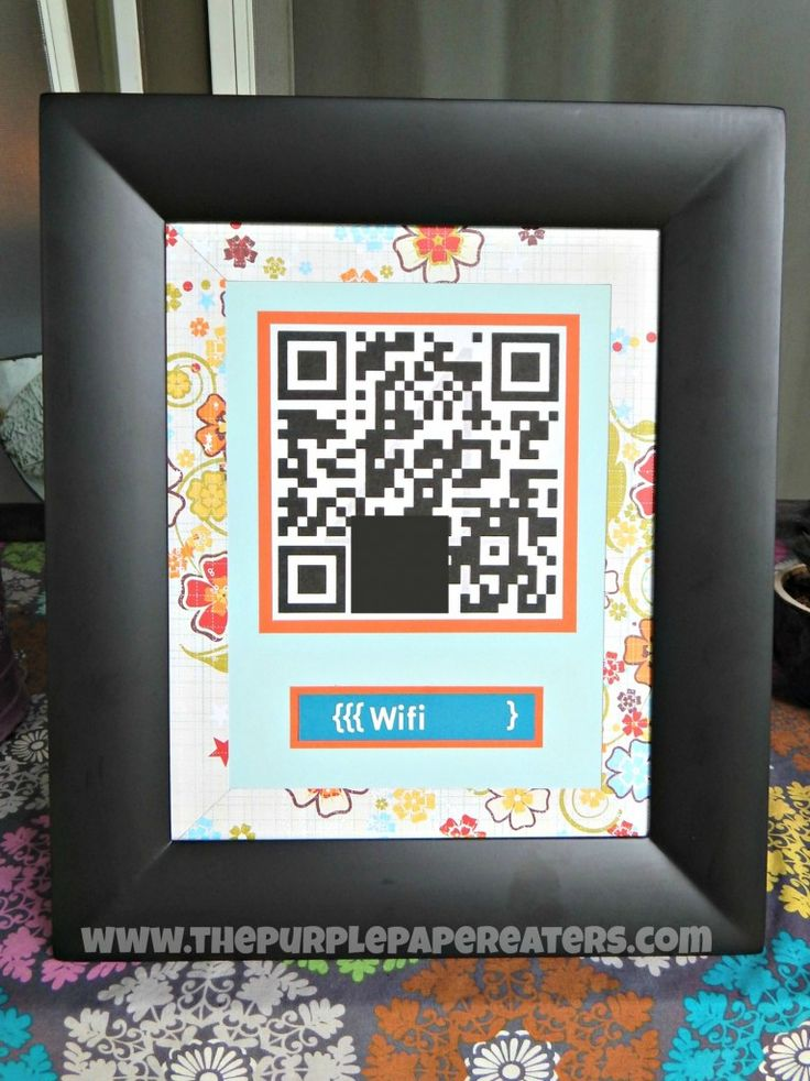 This site shows you how to print out a QR code giving your guests access to your home's wifi.