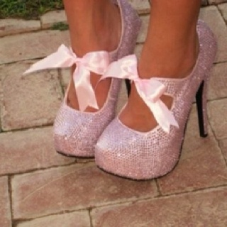 ❤: Fashion, Style, Clothes, Pink, Shoes 3, Bows, Sparkle, Heels, Shoes Shoes