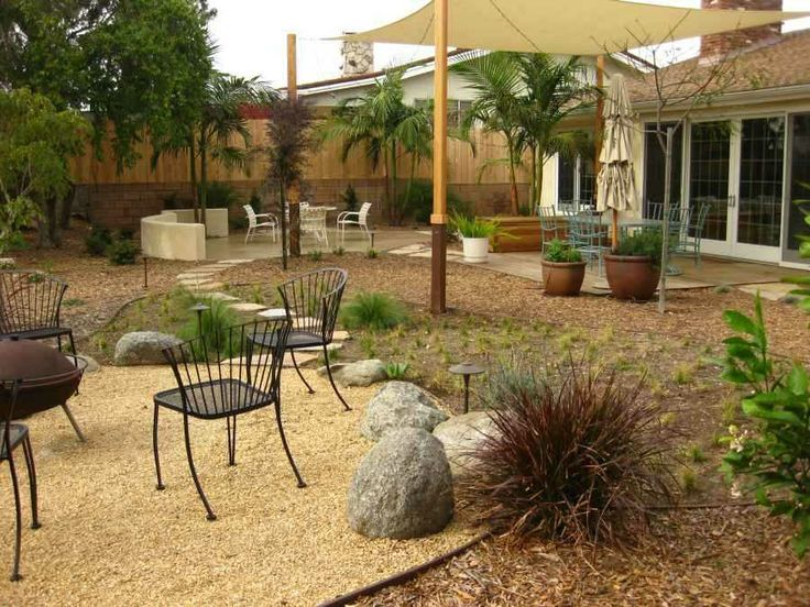 Very Low Maintenance Backyard, With A Lot Of Stones, Rocks, Gravel And  Little. Low Maintenance BackyardWater GardensLandscape ...