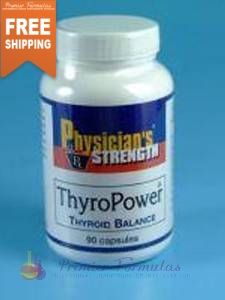 Thyro Power 90 caps - Proprietary Blend Of: Northern Pacific wild kelp, Tyrosine, Pharmaceutical grade potassium iodide, Wild rosemary powder, Wild oregano powder, Pantothenic acid, Selenium yeast 1400 mg.
