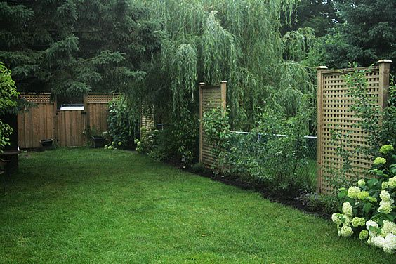 Lattice privacy fence ideas woodworking projects plans for Lattice yard privacy screen