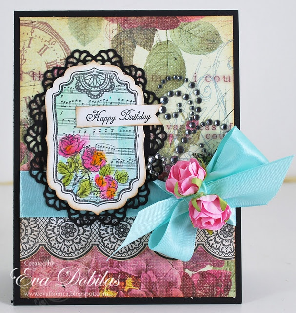 Card made using Classic Scallop Borders One: Stamps Cards, Cards Ideas, Justrit Stamps, Crafts Cards, Shabby Chic, Happy Birthday Cards, Scrapbook Layout, Homemade Cards, Chic Labels