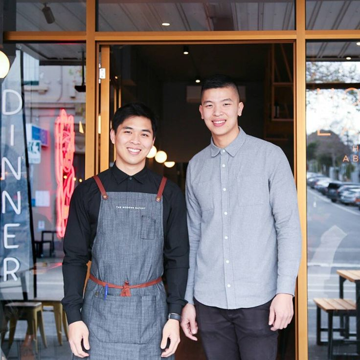 The Modern Eatery Sushi Restaurant, Melbourne | Waiters wear Cargo Crew Henry Bib Aprons in Charcoal | Waiters Uniforms | Grey Apron | Linen Apron   📷 by Lucy Donaldson