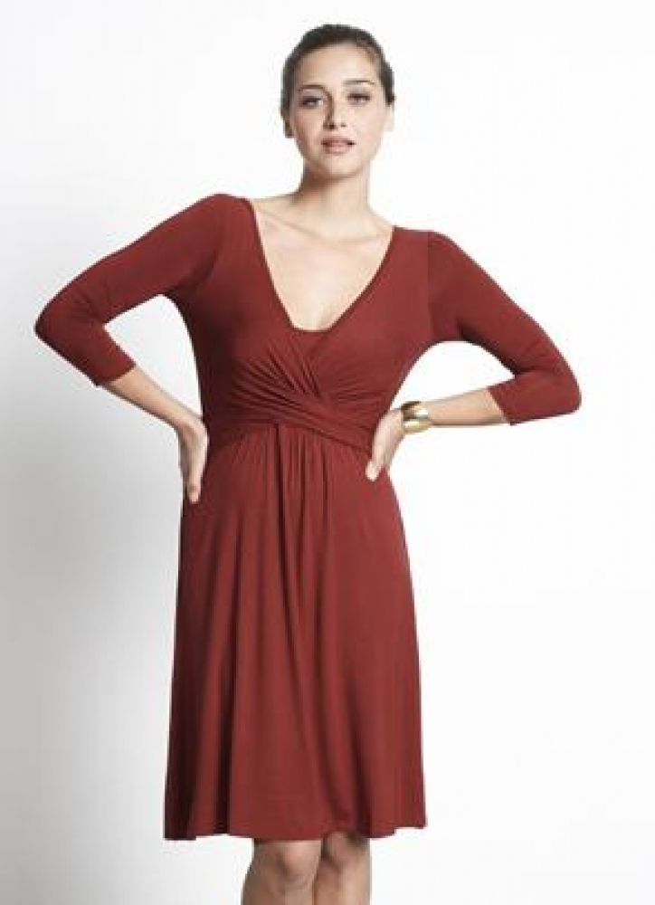 Mothers En Vogue Wrap Nursing Dress