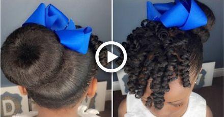 #hair #Sock #Bun #&  Sock Bun & Curls Tutorial | Kids Natural Hairstyle | IAMAWOG