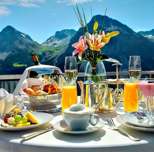 Breakfast in the Swiss Alps - Incredible