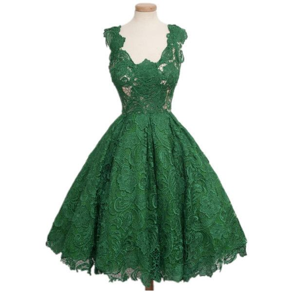 Europe V-Neck Pure Collar Bodycon Lace Dresses (£12) ❤ liked on Polyvore featuring dresses, body con dress, lace bodycon dress, green lace dress, bodycon dress and v neck bodycon dress