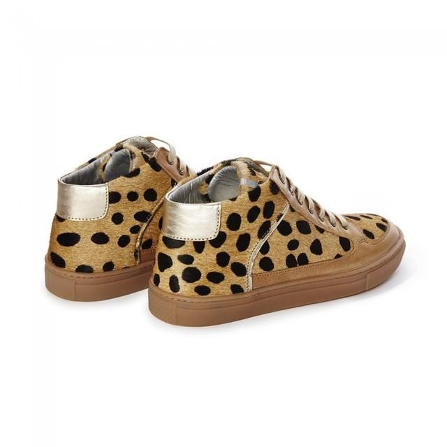 Cheetah Simmy Mid-Top Sneakers by Rose Rankin