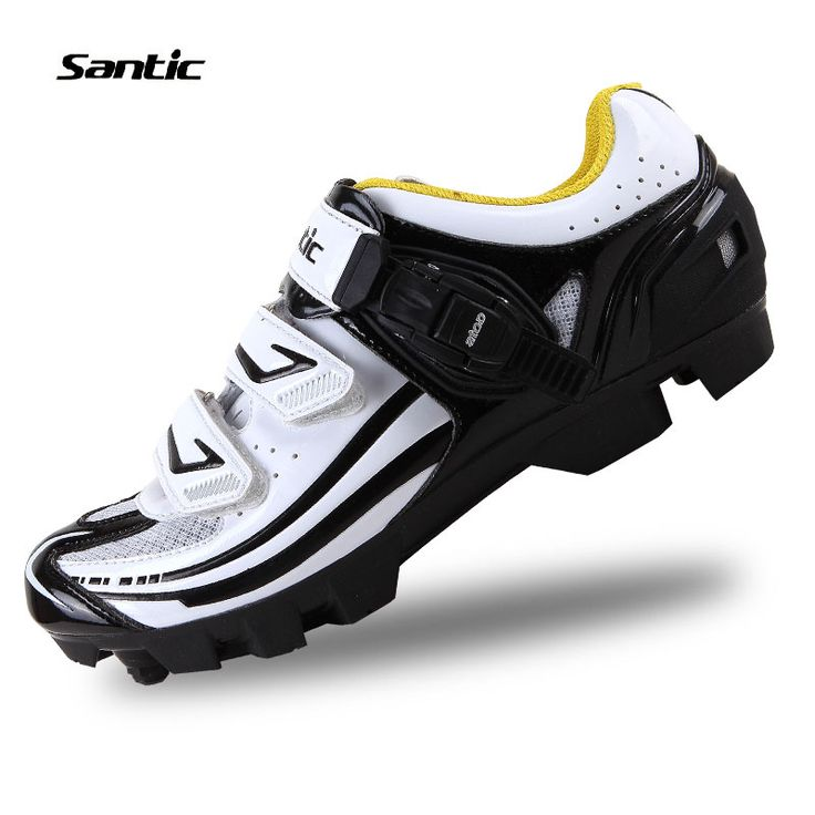 Santic MTB Cycling Shoes Professional Racing Athletic Bicycle Sports Shoes Bike Shoes Auto-Lock Mountain Ciclismo Zapatos