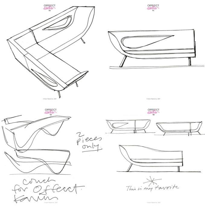 245 best images about karim rashid on pinterest for Sofa design sketch