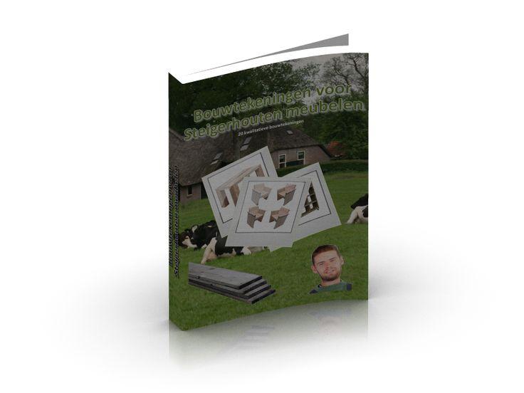 """Ontdek NuWaarom Het Zo Leuk IsOm Zelf Tuinmeubelen Te MakenVan Steigerhout!"""" Geschikt voor beginners en gevorderden!  In dit boek prachtige uitgewerkte tekeningen."""