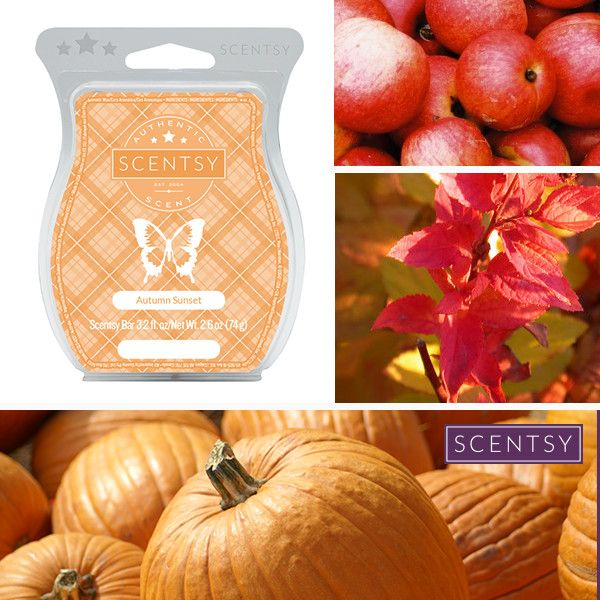 Autumn Sunset | Scentsy Fragrance | Apples, pumpkins, fall leaves and spices