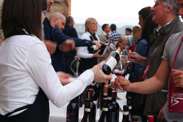 Barolo wine tasting - one of many during the whole year in the Langhe area (Piedmont, Italy).