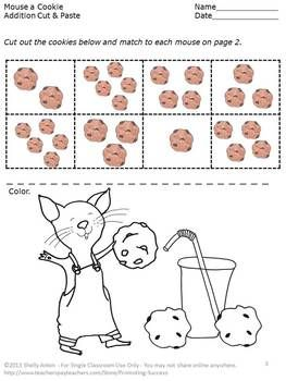 Printables If You Give A Mouse A Cookie Worksheets 1000 images about if you give a mouse cookie on pinterest here is free printable cut and paste common core math addition worksheet to go along
