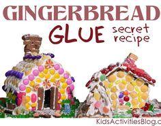 The Best Gingerbread Glue (Secret Recipe No Longer!) from Kids Activities Blog #gingerbread #recipe