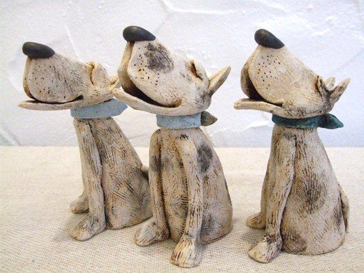 JJ Vincent ceramic dogs