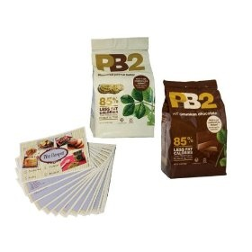 PB2 Powdered Peanut Butter and PB2 Powdered Cocoa Peanut Butter - 85% Less Fat and Calories - 16 Oz Each - 2 Pack - Includ... $27.99