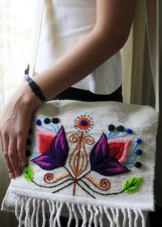 Flower on Vanilla White - Bag