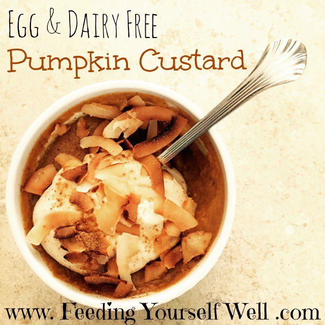Egg & Dairy Free - AIP - Paleo - Pumpkin Custard - www.FeedingYourselfWell.com