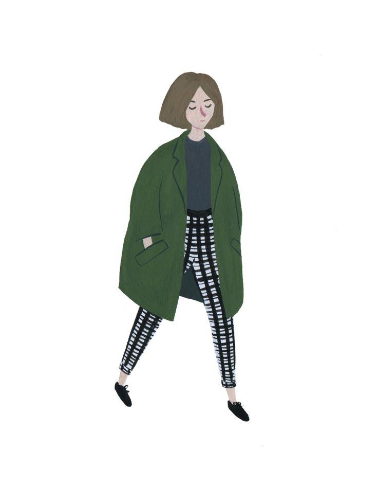 Ootd / fashion / gouache painting illustration