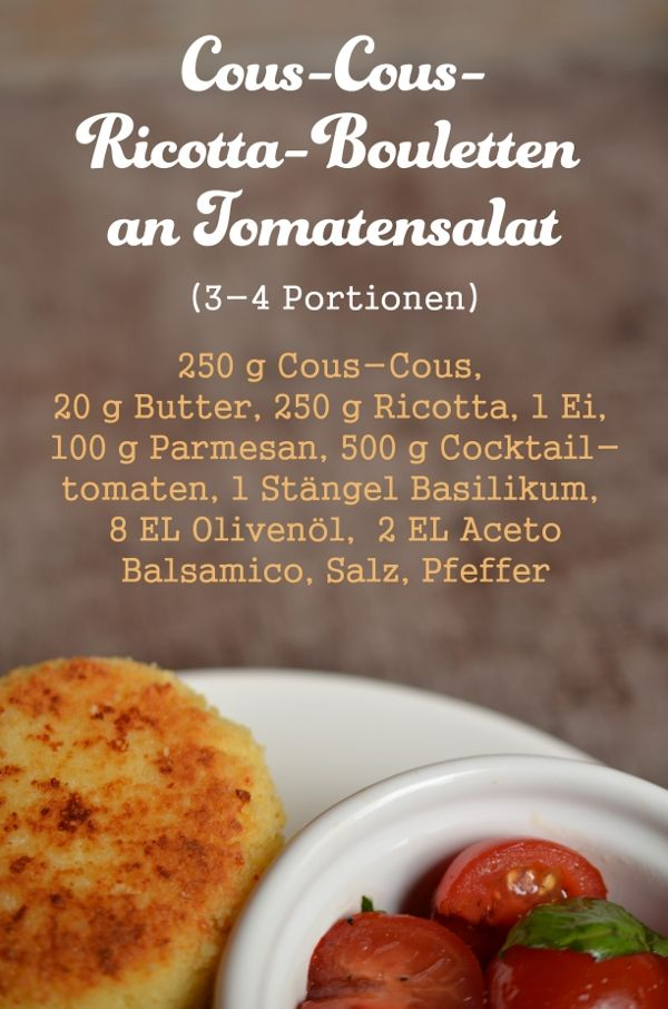 Rezept für Cous-Cous-Bouletten mit Tomatensalat Tomatensalat