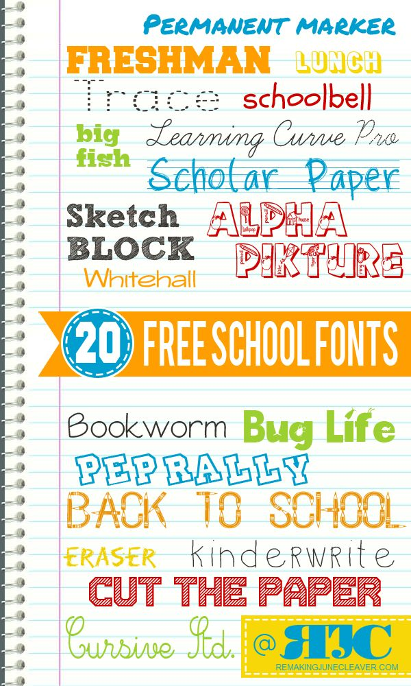 free back to school fonts ~~ {20 free fonts w/ links}. I need these!!❤️
