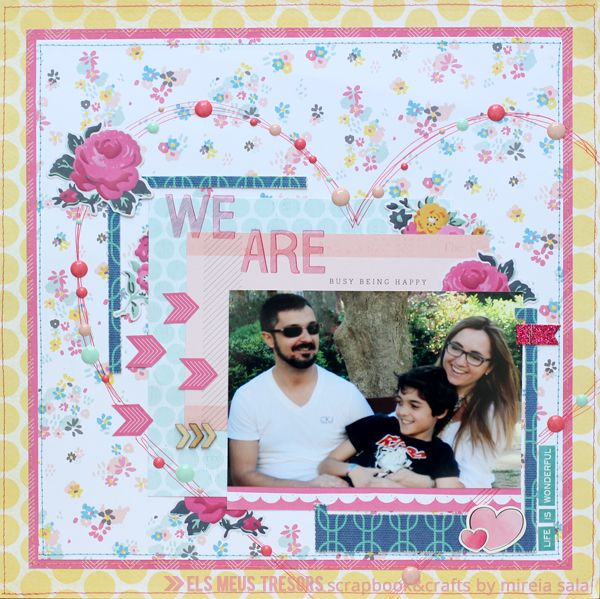 WE ARE BUSY BEING HAPPY | els meus tresors - scrapbook and crafts