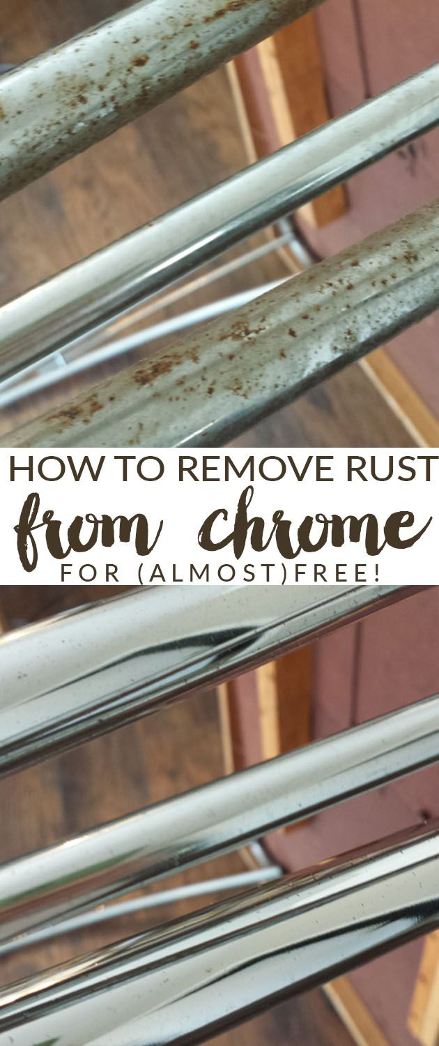 how to clean rust from steel