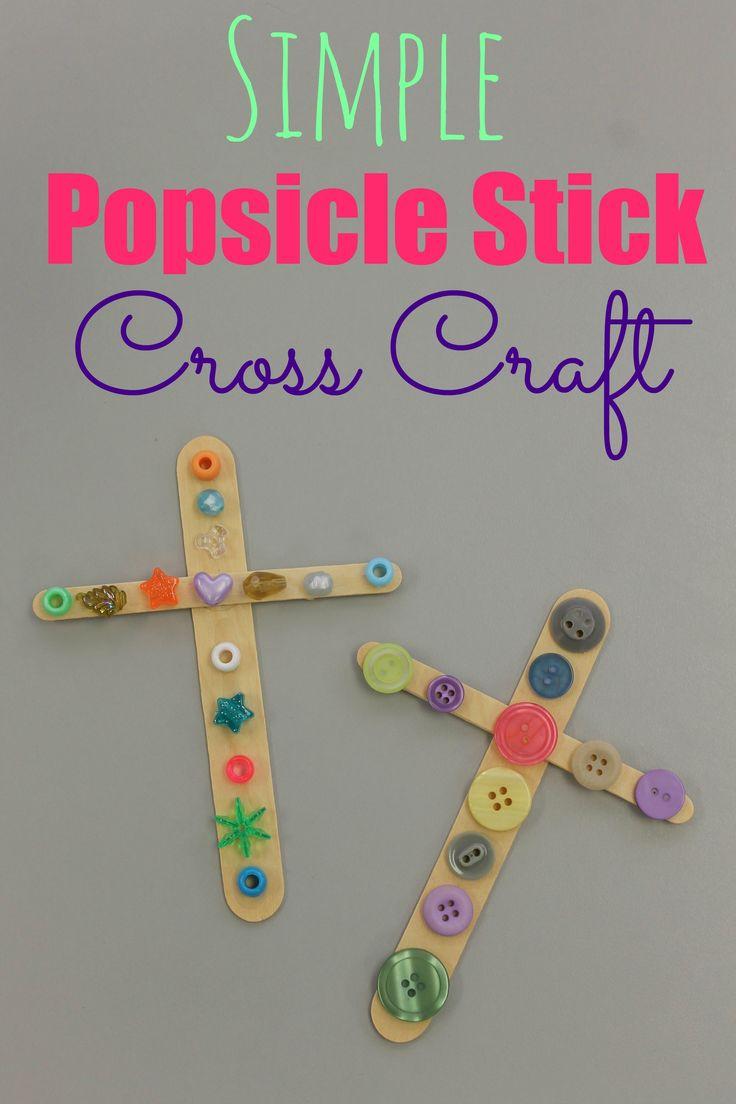 Bible craft for preschoolers - Simple Cross Craft
