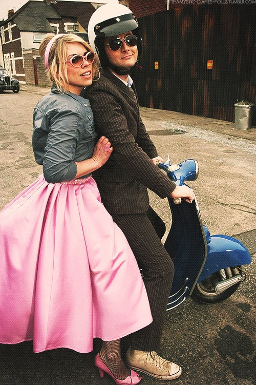 The Tenth Doctor and Rose will ALWAYS be my favorite. Love his filthy chucks! He has running to do, can't be bothered with keeping his shoes clean.