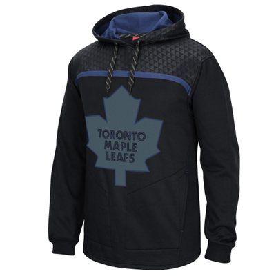 Mens Toronto Maple Leafs Reebok Black Cross Check Pullover Hoodie