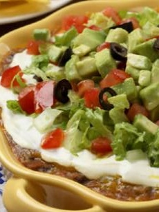 Delicious and Healthy Southwestern Layered Bean Dip!! |eatingwell.com