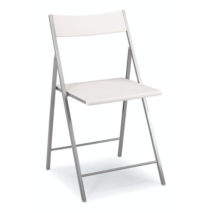 36 50 greta sconto 50 sedia pieghevole salvaspazio for Sedie polipropilene bianche