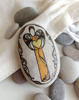 Art Stones Love Angel weddings favors decoration by FestaAmore