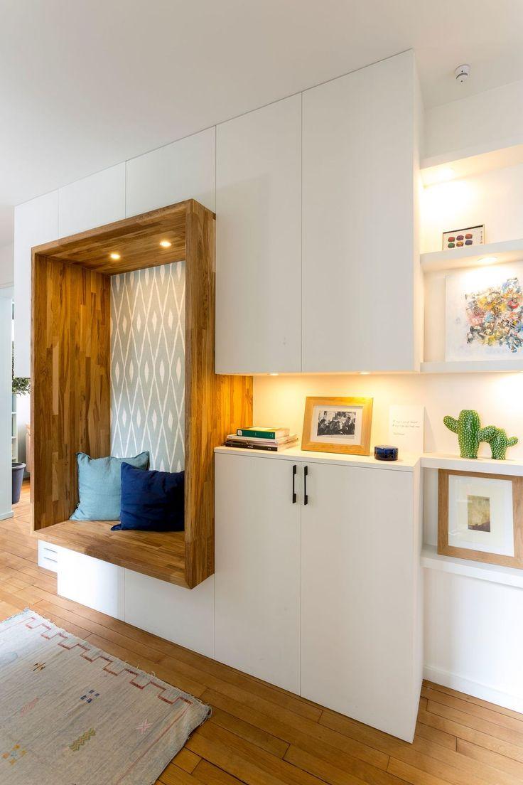 Appartement Paris 18 : 70 m2 ouverts et colorés