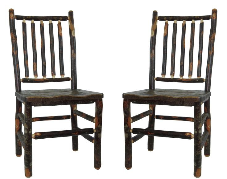 Distressed White Oak Dining Chairs: SPINDLE BACK DINING CHAIRS W/ HICKORY & DISTRESSED OAK