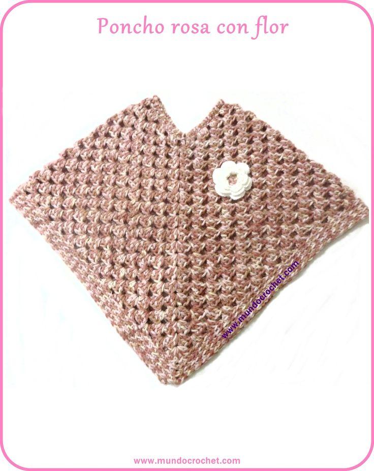 Crochet poncho girl-free pattern