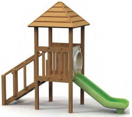 VG5101A - 1 Kuleli Ahsap Oyun Grubu | Ahşap Çocuk Oyun Parkları | Ahşap Oyun Grupları | Çocuk Oyun Parkları | Doapark