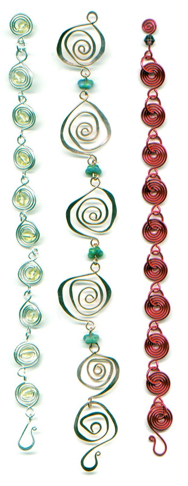 WireWorkers Guild  Lots of great chain ideas Me: The middle design inspires me to do something similar in a wind chime.