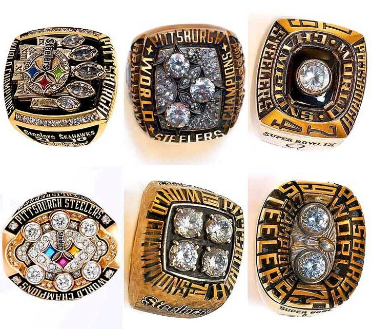 Steeler super bowl rings