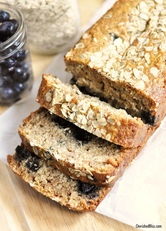 A delicious Blueberry Oatmeal Bread Recipe