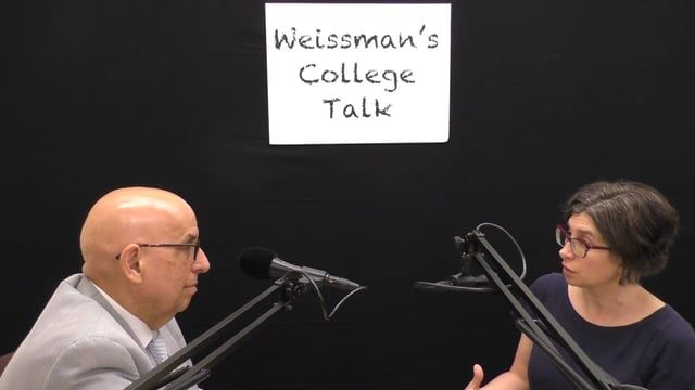 """This is the video version of the """"College Talk"""" radio interview with Dr. Elizabeth Wollman of the Department of Fine and Performing Arts at Baruch College about the world of Broadway musicals."""