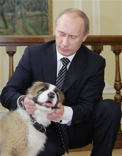 President Putin and dog!