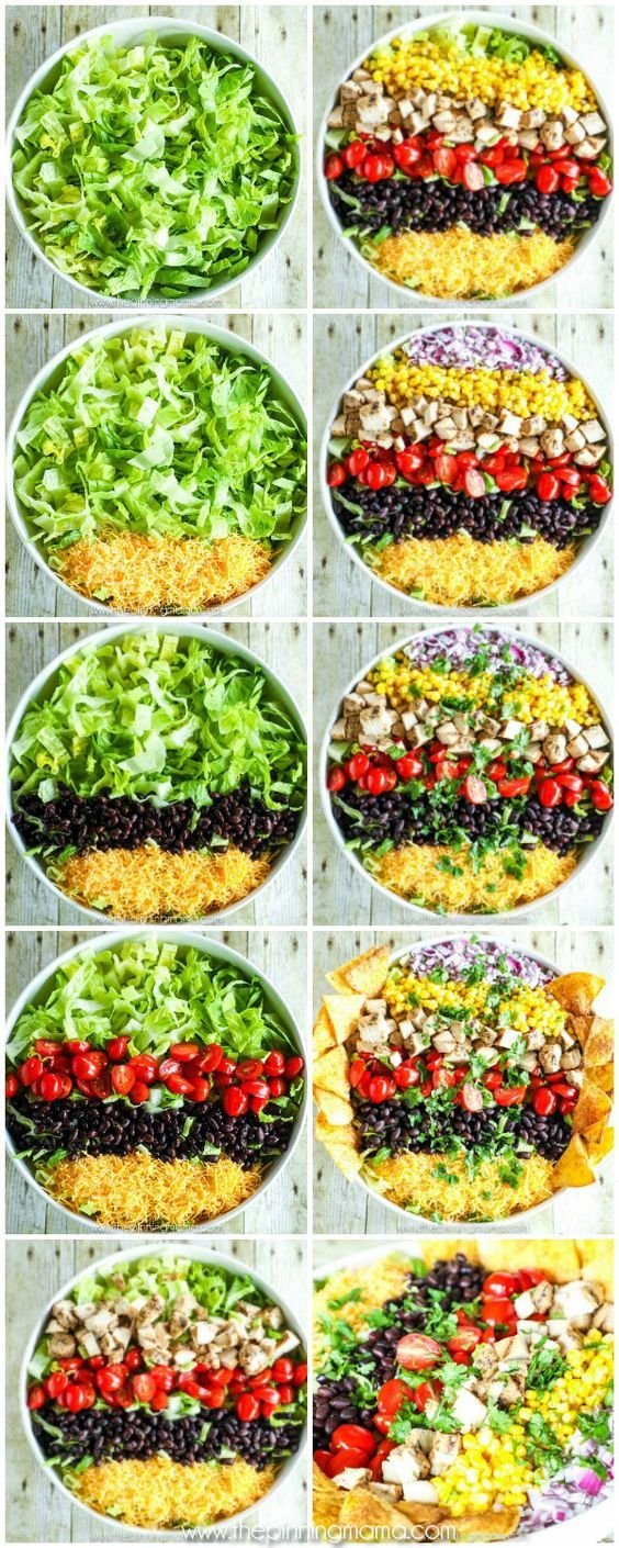 SO DELICIOUS!! Skinny Southwest Salad Recipe - Packed with flavor but light enough to keep you feeling great! Recipe sponsored by Johnsonville.