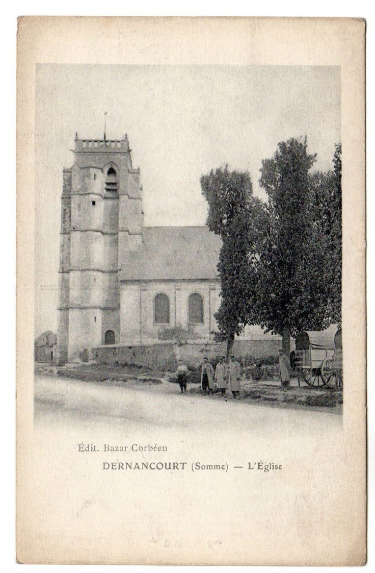 Old Dernancourt Church. The new one was built by donations from Adelaide, Australia and has a steeple.