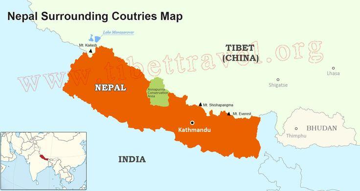Nepal Map, Map of Nepal Tibet India and China - Tibet Vista