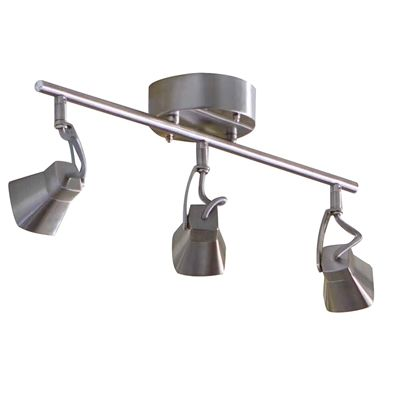 allen + roth Allen + Roth 3-Light 11.2-in Brushed Nickel Dimmable Integrated Led Fixed Track Light Kit