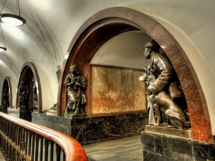 Ploschad Revolyutsii subway station in Moscow